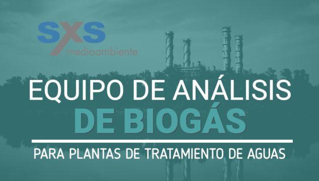 Equipo de análisis de biogás para plantas de tratamiento de aguas